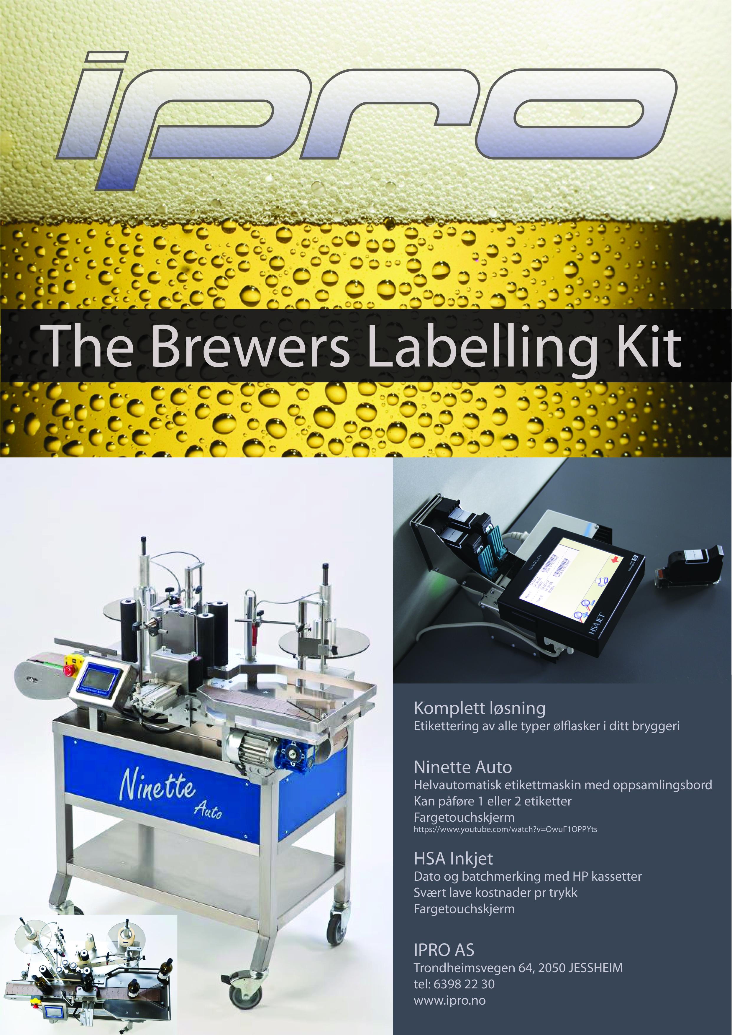 etikettering av flasker